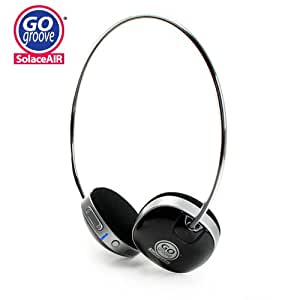 GOgroove SolaceAIR Wireless Bluetooth Stereo Headset w/ Microphone + Extended 15 hr Battery for Motorola RAZR MAXX / Nokia Lumia 900 / Samsung Galaxy Nexus , S II , Brightside / HTC One X & more