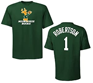 Milwaukee Bucks Oscar Robertson Green Name and Number T-Shirt by VF