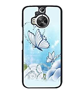 printtech Butterfly Pearls Back Case Cover for HTC One M9 Plus