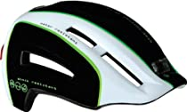 Lazer Urbanize Night Helmet Black/White/Green MD