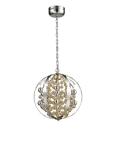 Artistic Lighting Light Spheres Collection Small LED Pendant, Polished Chrome