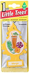 24 Pack Car Freshner 10339 Little Trees Air Freshener Mango Scent - Single Tree per Package