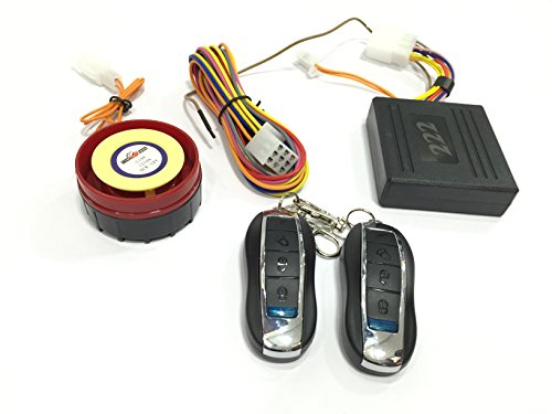 222 Hru Anti-Theft Security Alarm With Porsche Style Remote For All Bikes