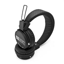Kidwavz KV-100 Childrens Wireless Bluetooth Volume Limited Headphones by Brainwavz (Black))