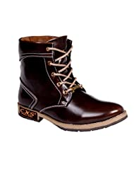 CNS Men's Casual Brown Synthetic Leather Boot