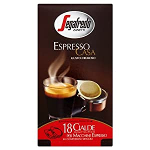 Shop for Segafredo Zanetti Espresso Casa 18 Coffee Pods 125g - Brodies Melrose Drysdale & Co. Ltd.