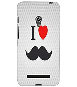 ASUS ZENFONE 5 I LOVE MUSTACHES Back Cover by PRINTSWAG