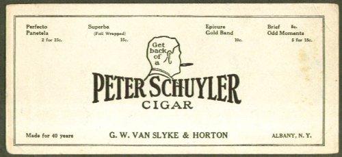 Peter Schuyler Cigar Van Slyke & Horton Albany Blotter