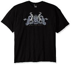 Downton Abbey Men's Dw Crest T-Shirt, Black, 5X-Large