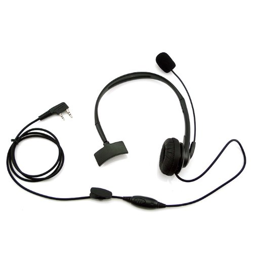 Noise Cancelling Headset Earpiece Boom Microphone For 2 Pin Kenwood Baofeng Puxing Quansheng Weierwei Wouxun Radio Tk-2200L Tk-2200Lp Tk-2202 Tk-2202K Tk2212 Etc.