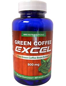 Pure Green Coffee Bean Extract - 800mg - Veggie Capsule - Weight Loss Diet Pills - Limited Quantity At This Price - Will Not Last Long from MRO Nutraceuticals