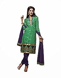 TFW Salwar Kameez UnStitched Brasso Dress Material