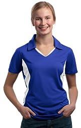 Sport-Tek Women\'s Side Blocked Performance Polo Shirt_True Royal/White_XXX-Large