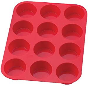HIC Silicone 12-Cup Muffin Pan