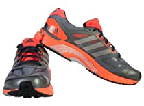 Adidas Mens Supernova Sequence 6 Running Shoes Grey/Metallic Silver/Atomic Red Q21470 Size 9
