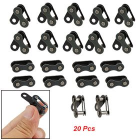 20 Pcs Black Bicycle Bike Chain Master Connecting Link 0.5