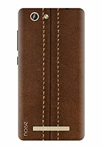 Noise Designer Printed Case / Cover for Gionee F103 Pro / Patterns & Ethnic / Brown Zipper Print Design