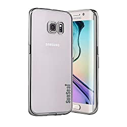 Galaxy S7 Case, Sunseai Ultra Thin Clear Crystal Plating Electroplating TPU Soft Mobile Phone Case For Samsung Galaxy S7 (Black)