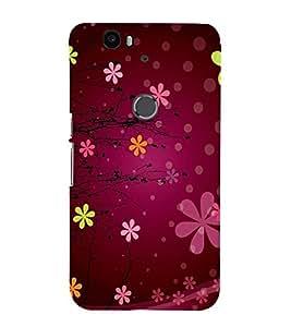 Vizagbeats flower pattern Back Case Cover for Huawei Google Nexus 6P