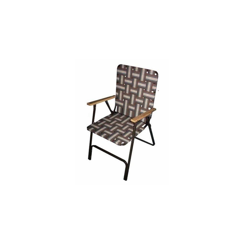 Folding High Back Web Chair Patio Lawn & Garden
