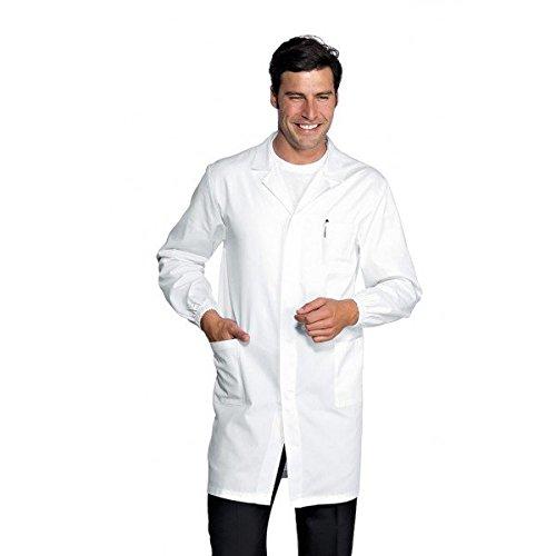 ISACCO - Camice Uomo Antiacido Bianco Cm 100 Poliestere / Cotone - M
