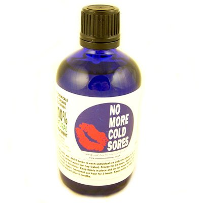 No More Cold Sores 100ml. A 100% natural remedy which uses a combination of herbal drops and pure ice! Use bottled water to fill an ice cube tray, then add 10 drops of No More Cold Sores to each ice cube & freeze for 24 hours, then apply to the cold sore.