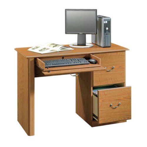 Buy Low Price Comfortable Computer Desk – Carolina Oak Finish (B003TLDU0O)