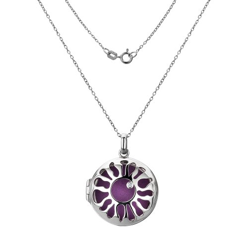 Hot Diamonds Selene Large Locket, Length 48 cm + 8 cm extender