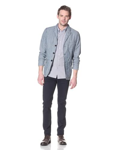 Onassis Men's Chambray Three Button Blazer