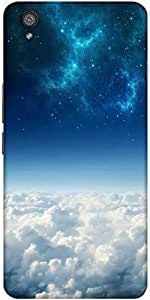 Snoogg Electric Sky Solid Snap On - Back Cover All Around Protection For One ...