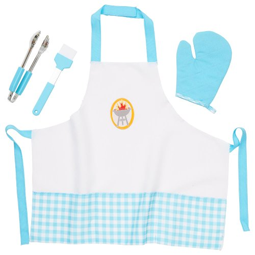Just Like Home Flip And Sizzle Grill Chef Accessory Set - Blue