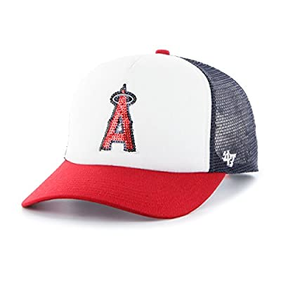 MLB Los Angeles Angels Women's Glimmer Captain Adjustable Snapback Hat, , Navy
