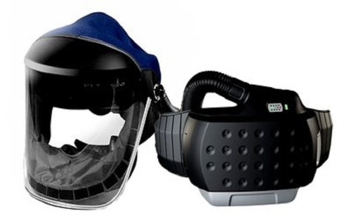 3M 33-3301-40 Powered Air Purifying Respirator Organic Vapor/Acid Gas and High Efficiency System with 3M ClearVisor, Lithium Ion Battery 3m 6300 6003 half facepiece reusable respirator organic mask acid face mask organic vapor acid gas respirator lt091