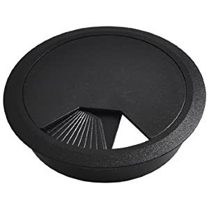water wood computer desk black plastic grommet cable hole cover 80mm mp3. Black Bedroom Furniture Sets. Home Design Ideas