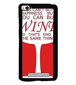 Printvisa Wine Glass With A Quote Back Case Cover for Xiaomi Redmi Mi4i::Xiaomi Mi 4i