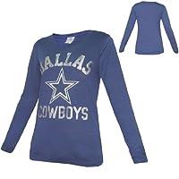 WOMENS Pink Victoria's Secret NFL Dallas Cowboys Crew-Neck Long Sleeve T Shirt
