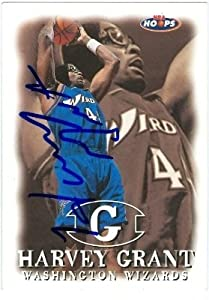Harvey Grant Autographed Hand Signed Basketball Card (Washington Wizards) 1998 Hoops... by Hall of Fame Memorabilia