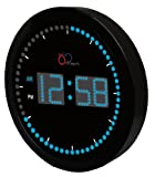 "DBTech Time Sphere - Stylish Big Digital LED Clock with Circling LED second indicator - Round Shape (10"" / Blue LED)"