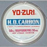 Yo-Zuri 30-Yard HD Fluorocarbon Leader Line, Pink, 25-Pound