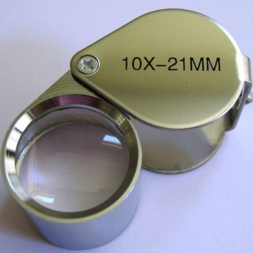 2pcs 10x 21mm JEWELERS EYE LOUPE MAGNIFIER magnifying glass