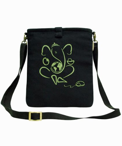 Clean Planet Canvas Quotient Ganesha Charm Sling Tablet Sleeve