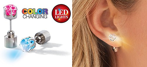 Flashing Led Color Changing Earrings Posts