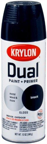 Krylon 8801 'Dual'  Paint and Primer 12-Ounce  Aerosol, Gloss Black (Black Auto Spray Paint compare prices)