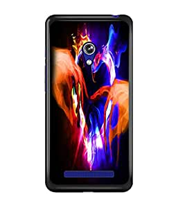 PrintDhaba Digital Heart D-2210 Back Case Cover for ASUS ZENFONE 5 A501CG (Multi-Coloured)