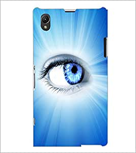PrintDhaba Blue Eye D-5798 Back Case Cover for SONY XPERIA Z1 (Multi-Coloured)