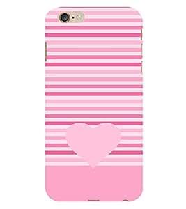Love Heart Design 3D Hard Polycarbonate Designer Back Case Cover for Apple iPhone 6S Plus