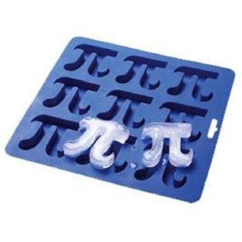 Blue Silicone Ice Cube Tray Pi Symbol for Ice Jello even Chocolate