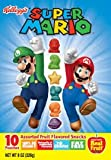 Kellogs Super Mario Brothers Fruit Snacks: Mario & Luigi: 10 Pouches Per Box (Pack of 6)