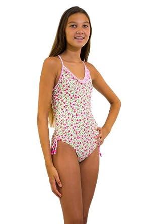 Amazon.com: Point Conception Girls 4-10 Romance Floral 1 Piece
