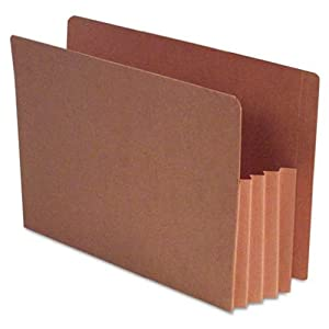 """S J Paper S11710 Full End Tab Expanding File Pockets, Legal Size, 4"""" Expansion, 10/box"""